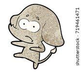 cartoon unsure elephant | Shutterstock .eps vector #719461471