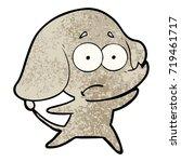 cartoon unsure elephant | Shutterstock .eps vector #719461717