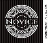 novice silvery shiny emblem | Shutterstock .eps vector #719462425