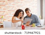 beautiful business people are... | Shutterstock . vector #719467921