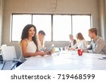 team at work concept. group of... | Shutterstock . vector #719468599