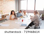 team at work concept. group of... | Shutterstock . vector #719468614