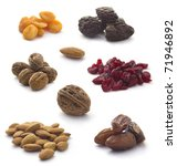 collection of nuts and dried... | Shutterstock . vector #71946892