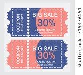ticket templates. trendy... | Shutterstock .eps vector #719476591