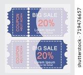 ticket templates. trendy... | Shutterstock .eps vector #719476657