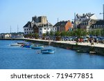 view to promenade of concarneau ... | Shutterstock . vector #719477851
