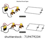 electrical circuit types... | Shutterstock .eps vector #719479234