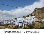 the beauty of chefchaouen  blue ... | Shutterstock . vector #719490811