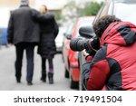 paparazzo   paparazzi   man... | Shutterstock . vector #719491504