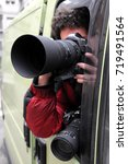 paparazzo   paparazzi   man... | Shutterstock . vector #719491564