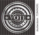 vote silver emblem or badge | Shutterstock .eps vector #719494591