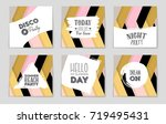 abstract vector layout... | Shutterstock .eps vector #719495431