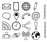 contact communication icons | Shutterstock .eps vector #719495551