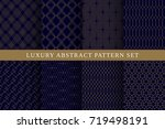 blue luxury abstract vector... | Shutterstock .eps vector #719498191