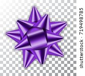 purple bow ribbon decor element ... | Shutterstock .eps vector #719498785