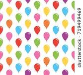 balloons festive pattern... | Shutterstock . vector #719499469