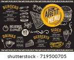 food menu for restaurant and... | Shutterstock .eps vector #719500705