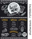 bakery dessert menu for... | Shutterstock .eps vector #719500741