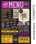 coffee drink menu for... | Shutterstock .eps vector #719500771
