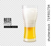 half full beer mug with cold... | Shutterstock .eps vector #719501734