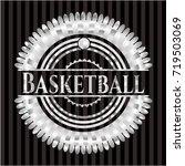 basketball silvery badge | Shutterstock .eps vector #719503069