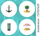 flat icon season set of... | Shutterstock .eps vector #719507629