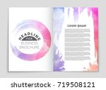abstract vector layout... | Shutterstock .eps vector #719508121