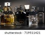 many brands of bottles of... | Shutterstock . vector #719511421