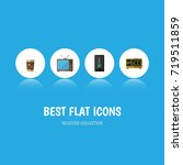 flat icon life set of... | Shutterstock .eps vector #719511859