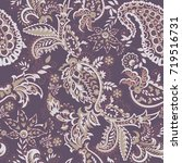 paisley vector seamless pattern.... | Shutterstock .eps vector #719516731