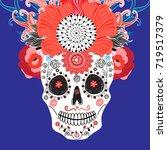 bright festive card for... | Shutterstock .eps vector #719517379