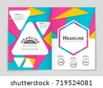 abstract vector layout... | Shutterstock .eps vector #719524081