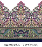 seamless traditional indian... | Shutterstock . vector #719524801