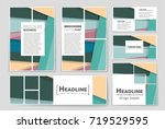 abstract vector layout... | Shutterstock .eps vector #719529595