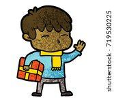 cartoon curious boy   Shutterstock .eps vector #719530225