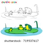 vector black and white coloring ... | Shutterstock .eps vector #719537617