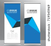 roll up banner stand design... | Shutterstock .eps vector #719545969
