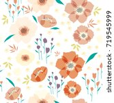 seamless background pattern of... | Shutterstock .eps vector #719545999