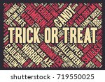 halloween word cloud... | Shutterstock .eps vector #719550025
