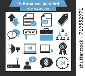 business finance icon set | Shutterstock .eps vector #719552971