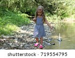 Cute Preschooler Girl Walking...