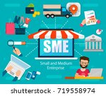 sme vector illustration  small... | Shutterstock .eps vector #719558974