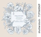 wedding invitations with... | Shutterstock .eps vector #719560069