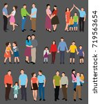 people collection | Shutterstock .eps vector #719563654