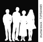 white silhouette people on a... | Shutterstock .eps vector #719564485