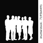 white silhouette of people... | Shutterstock .eps vector #719564491