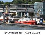 hamburg  germany   aug 27  view ... | Shutterstock . vector #719566195