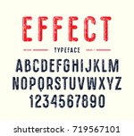 decorative narrow sanserif font ... | Shutterstock .eps vector #719567101
