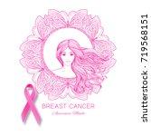 breast cancer awareness month... | Shutterstock .eps vector #719568151