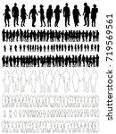sketch of dancing people ... | Shutterstock .eps vector #719569561